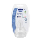 Chicco Tetina Well Being Silicona Flujo Rápido 4M+ 2 Ud