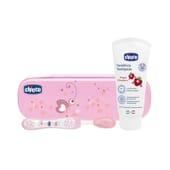 Chicco Set de Higiene Oral Primeros Dientes 12M+ Rosa